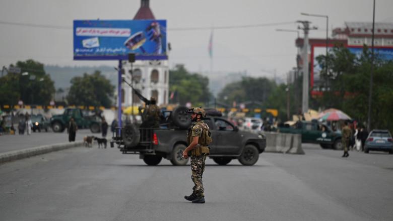 Trupe de securitate afgane, în capitala Kabul.