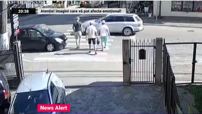 Trei oameni au fost loviți în plin pe o trecere de pietoni din Borșa, județul Maramureș.