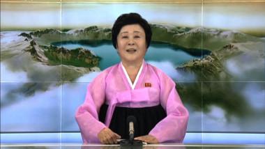 imagine de la televiziunea nord coreana