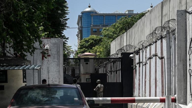Ambasadă în Green Zone din Kabul, Afganistan.