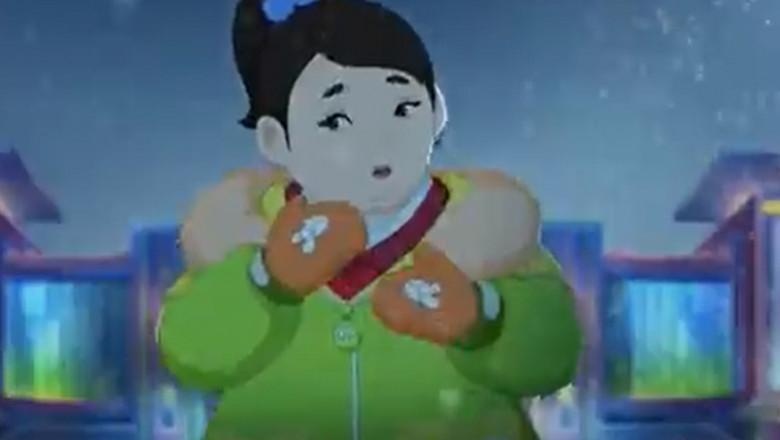 personaj dintr-un desen animat impotriva obezitatii difuzatin coreea de nord