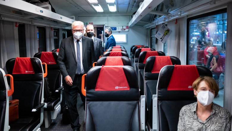 presedintele germaniei in tren