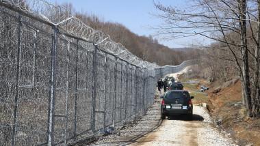 fence erected at the Bulgaria-Turkey border near Malko Tarnovo, Bulgaria