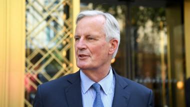 Michel Barnier, fostul negociator-șef pentru Brexit din partea Uniunii Europene, la o întâlnire a partidului francez din care face parte, Les Republicaines, în pregătirea alegerilor preliminare din Franța