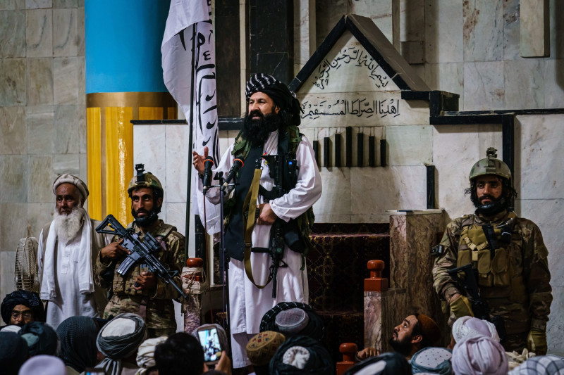 FRIDAY PRAYERS FOR TALIBAN CONTROL IN KABUL, Kabul, Kabul Province, Afghanistan - 20 Aug 2021