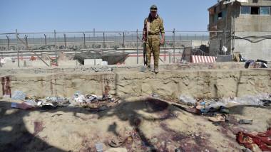 locul exploziei din kabul