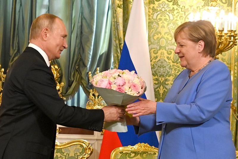 Putin-Merkel Summit in Moscow