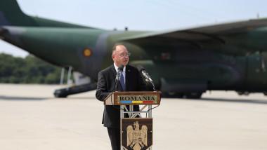 Bogdan Auresc, discurs la repatarierea români din Afganistan