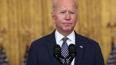 Președintele SUA, Joe Biden, la o conferință de presă în care a explicat motivele care au stat în spatele deciziei de a retrage trupele americane din Afganistan