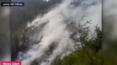 incendiu de padure in munti