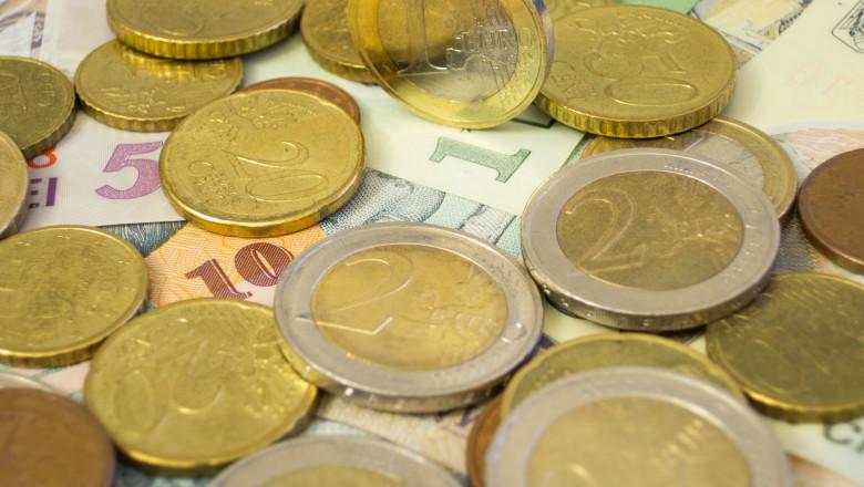 monede euro si bancnote lei