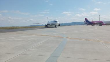 Avion de pasageri pe ruta Bergamo - Iași cu probleme la aterizare.