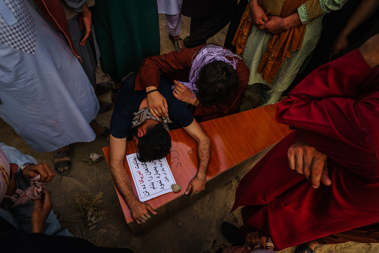 FUNERAL FOR VICTIMS OF US AIRSTRIKE, Kabul, Kabul Province, Afghanistan - 30 Aug 2021