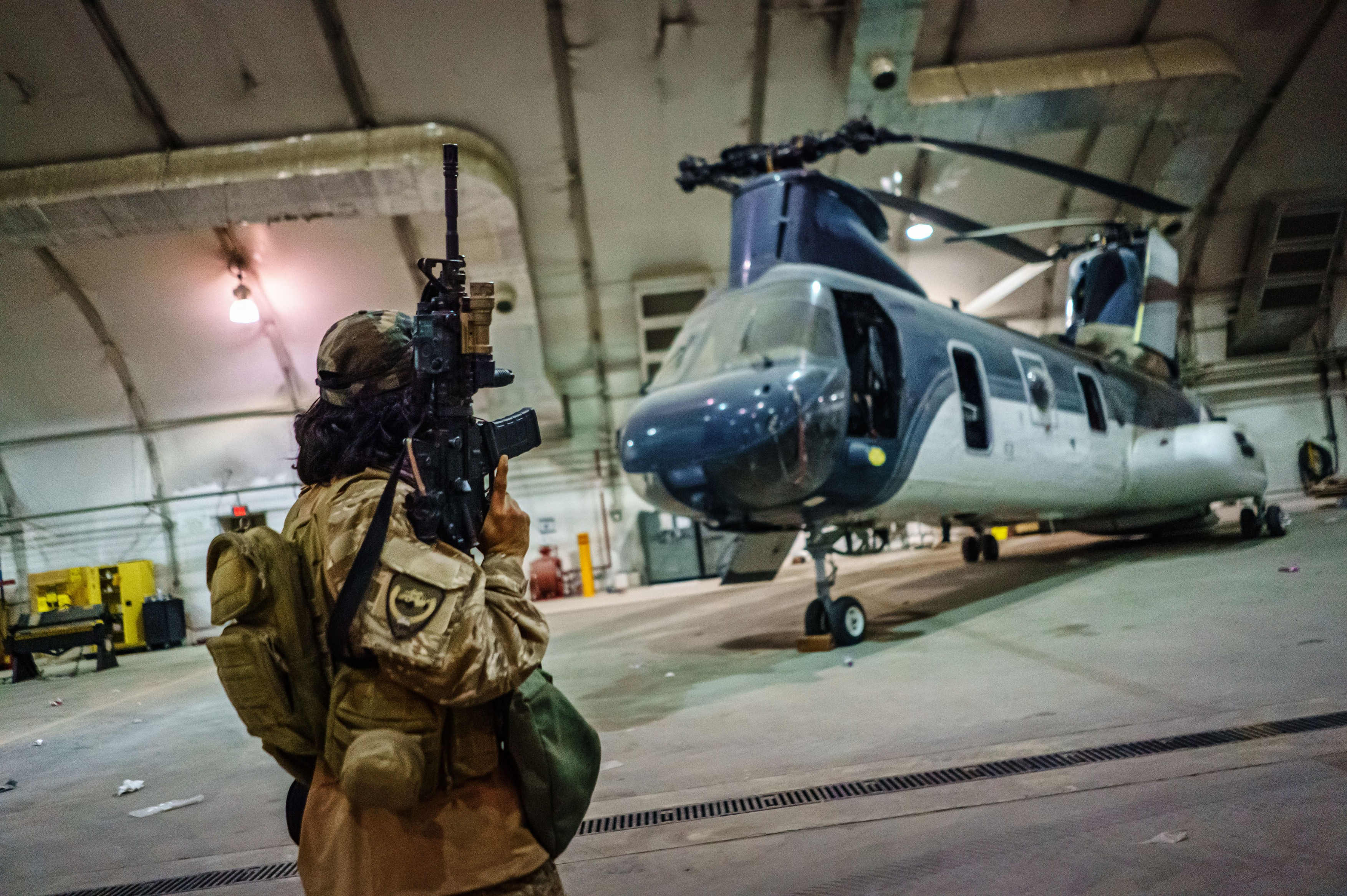 TALIBAN TAKING OVER AIRPORT FROM AMERICANS, Kabul, Kabul Province, Afghanistan - 31 Aug 2021