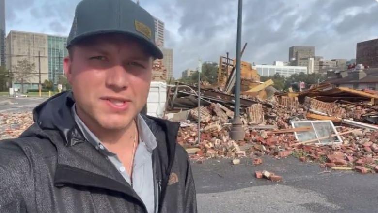 casa distrusa de uragan