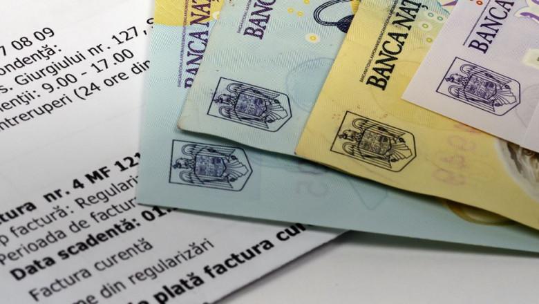 factura si bancnote in lei