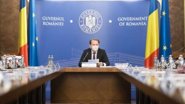 Florin Cîțu în ședință de guvern.