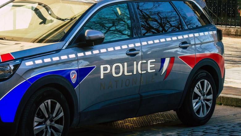 Mașină de poliție din Franța.