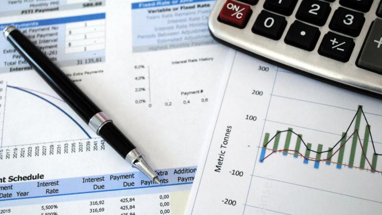 Calculator, pen, graph, spreadsheet