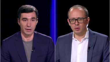Jurnaliștii Claudiu Pândaru și Florin Negruțiu.