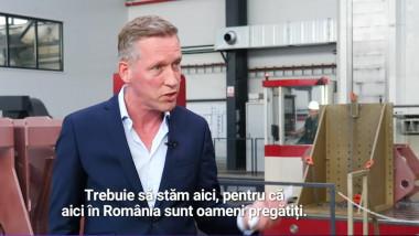Piet ter Schure acorda un interviu in fabrica sa din galati