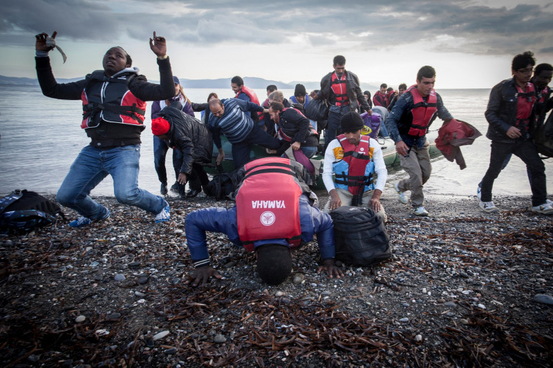 It's a joy and a great relief to be able to tread the European land. For many refugees this is the end of the war.