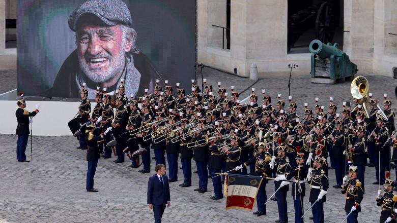Ceremonie fastuoasă dedicată lui Jean-Paul Belmondo, la Paris.