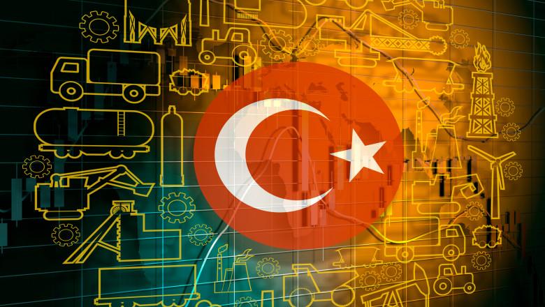 economie turcia steag