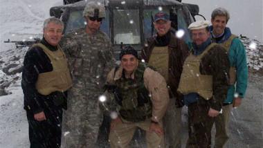 John Kerry, Chuck Hagel și Joe Biden, în imaginea de după operațiunea de salvare din Afganistan.