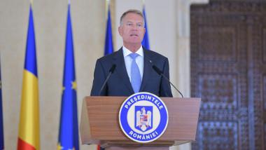 Klaus Iohannis, președintele Românieiface declaratii de presa