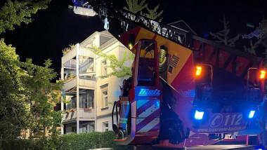 cladire si masina de pompieri, in germania