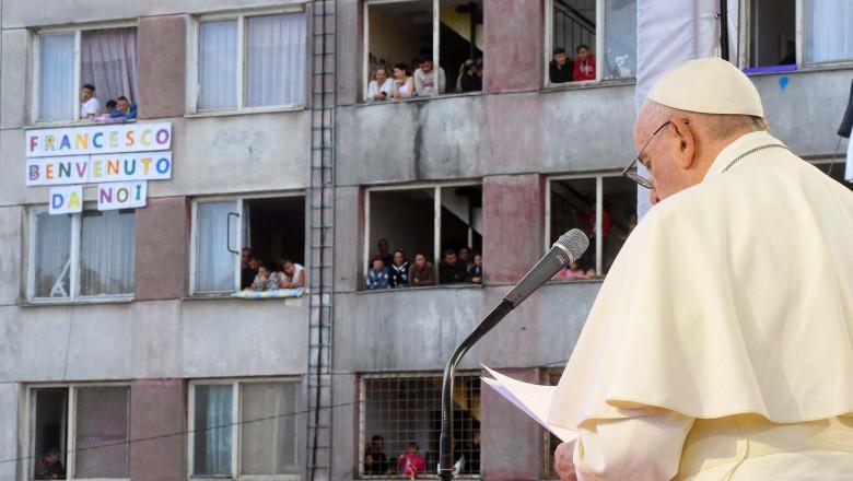 Pope Francis Visits The Roma Community - Slovakia