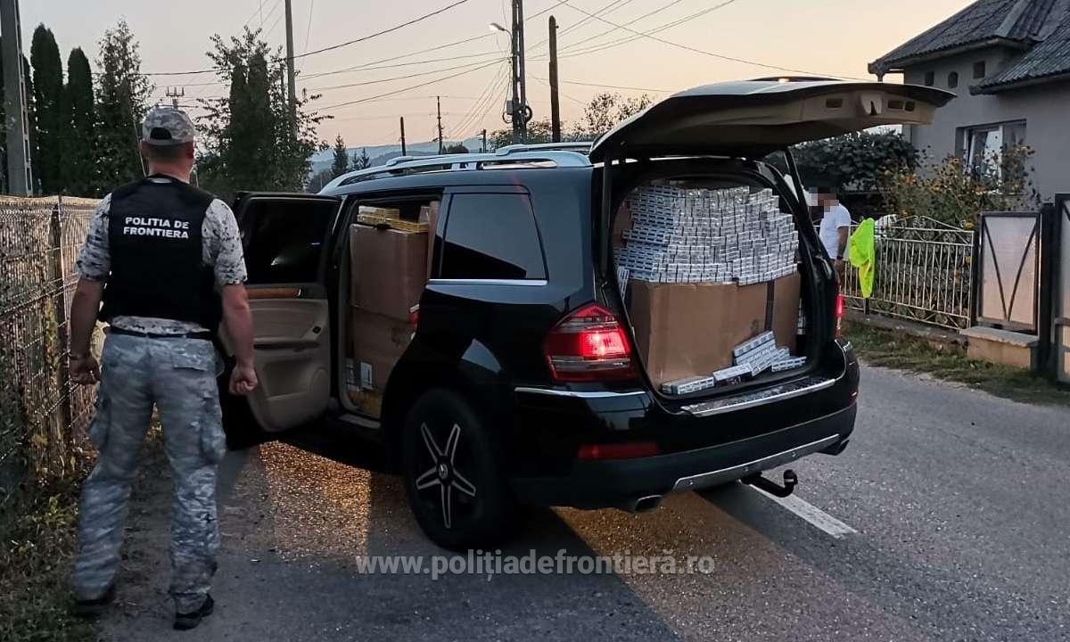 tigari de contrabanda in masina