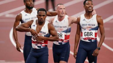 Echipa masculină britanică de 4x100 m la JO 2020
