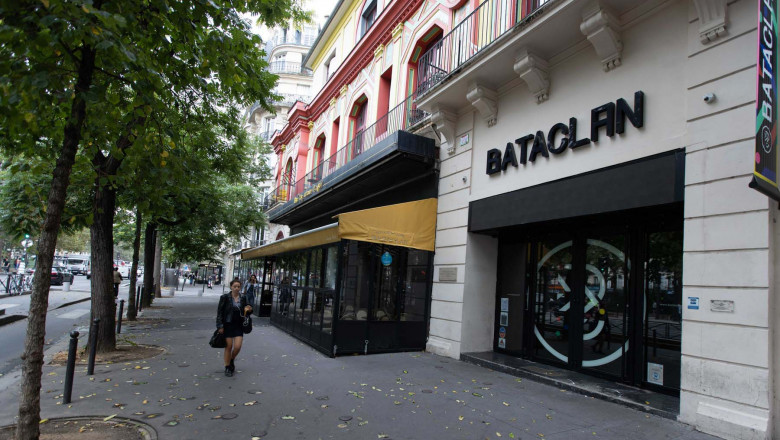 The Bataclan, the day after the start of the trial of the attacks of November 13, 2015. The Bataclan suffered the heaviest toll of this tragedy.