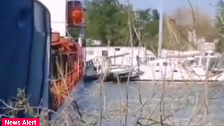 Un accident naval a avut loc în această după-amiază, în județul Tulcea