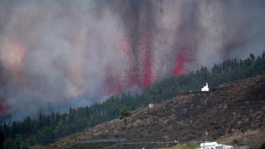 Vulcanul din La Palma a erupt după 50 de ani. Foto: Profimedia