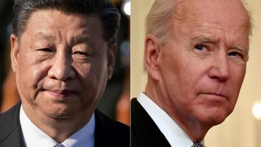 Colaj imagini joe Biden și Xi Jinping