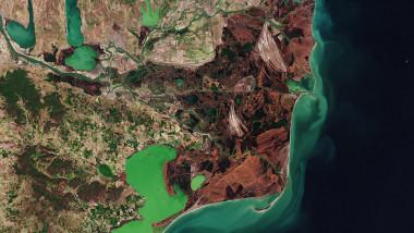 Delta Dunării, văzută din spațiu