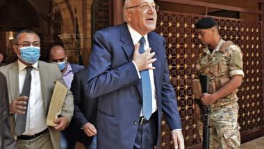 Premierul desemnat al Libanului, Najib Mikati, după ce a participat la rugăciunile de vineri de la moscheea al-Omari din capitala libaneză Beirut, înainte de a se întâlni cu președintele țării la palatul prezidențial din Baabda.