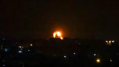 Minge de foc după ce israelienii au atacat ținte Hamas din Gaza
