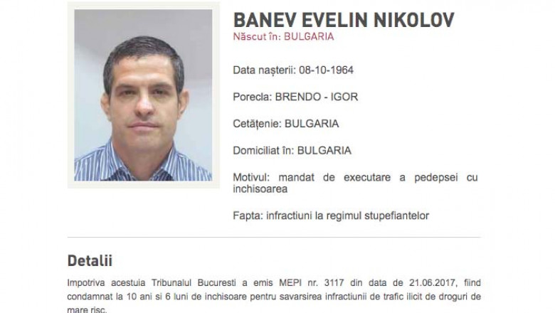 Evelin Banev cautat de politie
