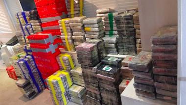 Două tone de cocaină confiscate de pe un iaht de lux
