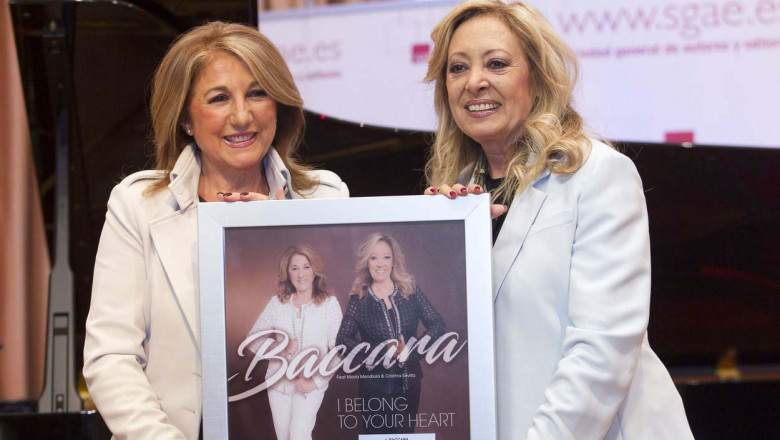 Mariola Mendiola and Cristina Sevilla. They have received a gold disc by its trajectory Baccara