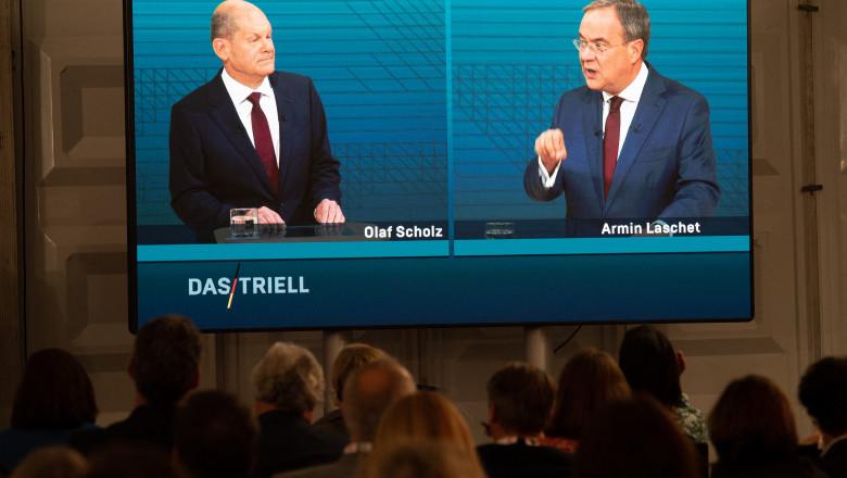 dezbatere electorala germania olaf scholz armin laschet