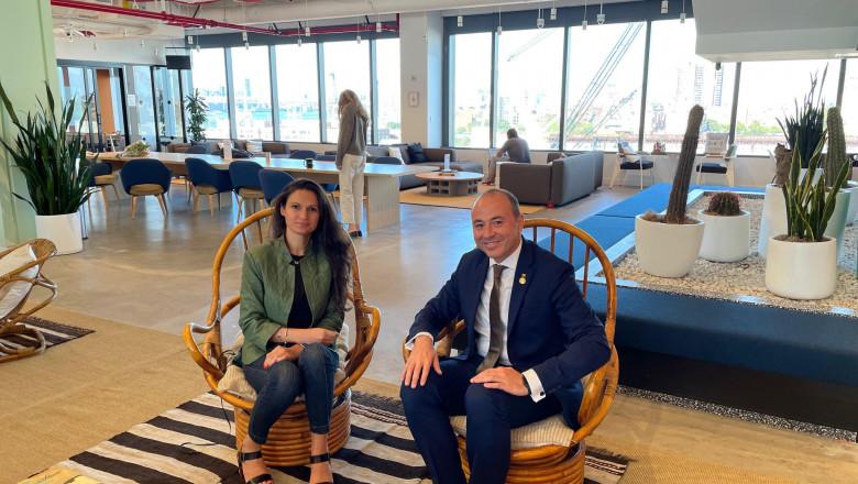 Ambasadorul României în SUA, Andrei Muraru, la întrevederea cu antreprenoarea Alina Vandenberghe