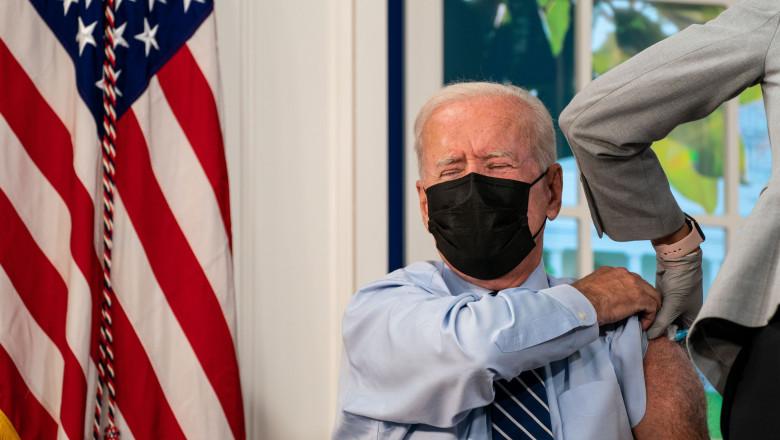 President Joe Biden Recieves COVID19 Vaccination Booster Shot, South Court Auditorium, Washington, Dc, United States - 27 Sep 2021