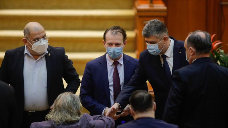 marcel ciolacu si floin citu in parlament
