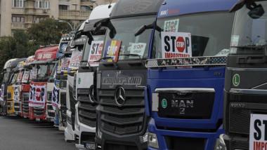 protest al transportatorilor in bucuresti