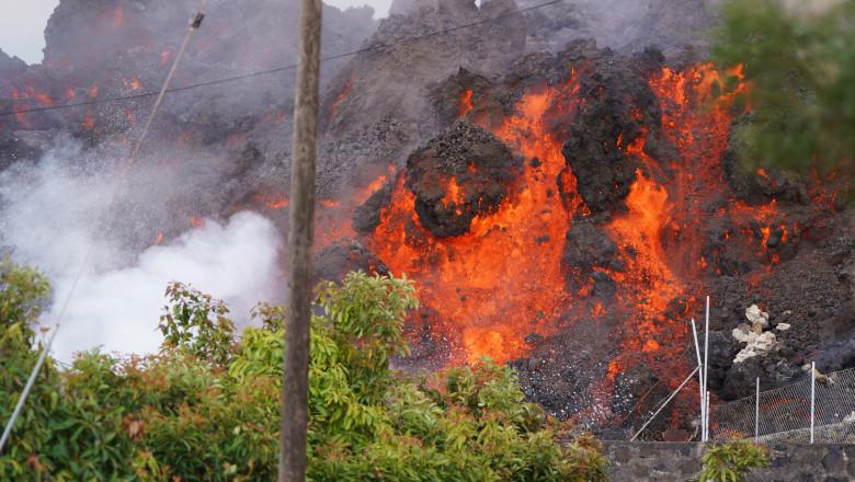eruptie vulcan la palma